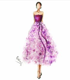 Oscar de la Renta Fall 2018 @cristinag_elena #FashionIllustrations |Be Inspirational ❥|Mz. Manerz: Being well dressed is a beautiful form of confidence, happiness & politeness