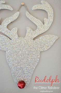 You can make your very own #Rudolph the Glitter Reindeer in just a few easy steps! DIY Christmas****also for the kids use it as pin the nose on Rudolph!