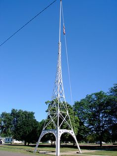 This interesting flag pole stands in front of the 1914 Bon Homme County Courthouse.