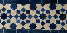 Zellige Borders Marrakech Terracotta/Midnight Blue fromHabibi Interiors