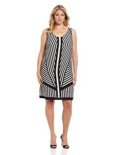 Gabby Skye Women's Plus-Size Mirror Print Sleeveless Dress, Black, 22 Large Gabby Skye,http://www.amazon.com/dp/B00AWKKKJY/ref=cm_sw_r_pi_dp_nWbVrbB5C65346B7