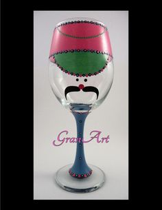 Nutcracker Wine Glass Fiesta Colors Toy Soldier Fiesta by GranArt