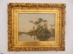 Antique Oil on Canvas.