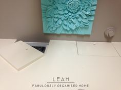 how I put together the wash + dry + fold station in our laundry room - Simply Fabulous Living Simply Fabulous Living Laundry Folding Station, Laundry Station, Folding Laundry, Laundry Room Countertop, Laundry Room Doors, Laundry In Bathroom, Home Projects, Projects To Try
