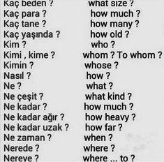 English Sentences, English Words, English Lessons, English Grammar, Learn English, Learn Turkish Language, Learn A New Language, Language Quotes, Language Lessons