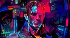 Want to discover art related to synthwave? Check out inspiring examples of synthwave artwork on DeviantArt, and get inspired by our community of talented artists. Framed Canvas Prints, Canvas Frame, Futurism Art, Retro Futurism, Altered Carbon, Cyberpunk Art, Cyberpunk Aesthetic, Human Art, Cultura Pop