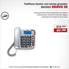 ¡Ideal para los mayores de la casa!  Teléfono BRONDI BRAVO 50 http://www.electroactiva.com/brondi-telefono-senior-bravo-50-silver-2846.html #Elmejorprecio #Telefono #Chollo #Electronica #PymesUnidas