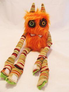 Plush Monster Cute Monster ANDY handmade by PinkSprinklesPlush