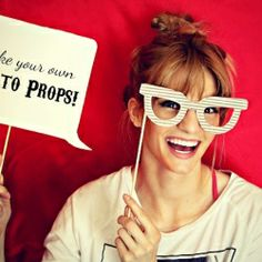 Easily make your own photo props for your own photobooth.