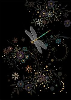 BugArt Jewels ~ Dragonfly in a Swirl. JEWELS Designed by Jane Crowther.