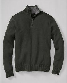 Signature Cotton Quarter-Zip Sweater | Eddie Bauer, large tall