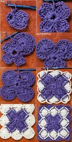 Bavarian Crochet Tutorial for Crochet, Knitting .nural-ca herşey - My WordPress WebsiteCroche and points: Bavarian CrochetThis Pin was discovered by KatMore projects in crochet Crochet Motifs, Crochet Blocks, Crochet Flower Patterns, Crochet Stitches Patterns, Crochet Squares, Crochet Doilies, Crochet Flowers, Granny Squares, Crochet Crafts