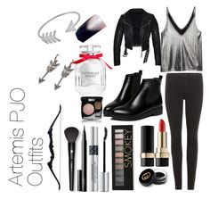"""Artemis"" by weirdo-juan-oh-juan on Polyvore featuring H&M, J Brand, Dolce&Gabbana, Forever 21, Gucci, Victoria's Secret, Christian Dior, NARS Cosmetics, Chanel and Lancôme"