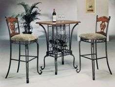 Venetian Bar Table Set By Acme Furniture *** Visit the image link more details. Note:It is affiliate link to Amazon.