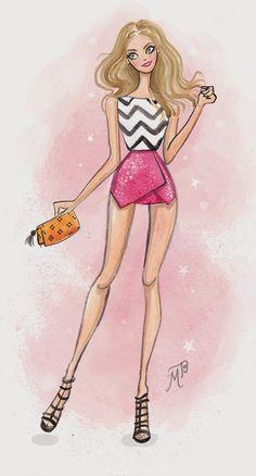 Paper Doll: Fashion illustration by Melissa Bailey www.melissabaileyillustration.co.uk