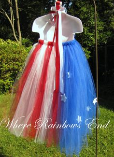 Stars & Stripes Fourth of July Pageant Tutu by RainbowsEndTutus