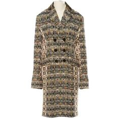 dff4b9de Pre-owned Alexander Mcqueen Tweed Coat ($2,785) ❤ liked on Polyvore  featuring outerwear