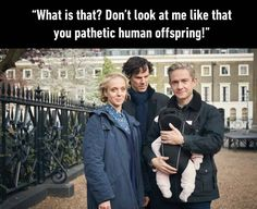 *to Mary* John is about to notice a rather revolting diaper in three, two, one... *John yells across the parking lot* *both Mary and Sherlock smirk*