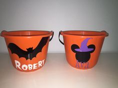 Personalized Pumpkin Trick or Treat Bucket by KarensVinylCreations