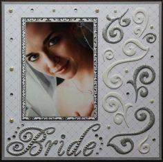 1 photo 1 page scrapbook layout Bride - An elegantly stunning layout. Wedding Scrapbook Pages, Bridal Shower Scrapbook, Love Scrapbook, Birthday Scrapbook, Scrapbook Designs, Scrapbook Page Layouts, Scrapbook Supplies, Scrapbook Cards, Anniversary Scrapbook
