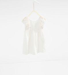 Linen Dress - Zara.  The back of this dress is killer