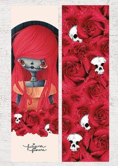 Marcador de páginas: Sally Retrato, por Juliana Fiorese Christmas Mix, Bookmarks, Markers, Origami, Harry Potter, Paper Crafts, Diy, Kids Rugs, Scrapbook