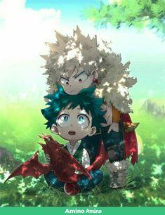 Izuku Midoriya and Katsuki Bakugou My Hero Academia Shouto, My Hero Academia Episodes, Hero Academia Characters, Anime Chibi, Kawaii Anime, Anime Art, Mononoke Cosplay, Deku Anime, Hero Wallpaper