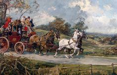 York-London Mail Coach by Gilbert S. Wright,