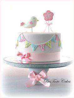 Bird 1st Birthday Cake