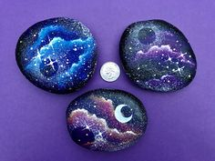 Rock Painting Patterns, Rock Painting Ideas Easy, Rock Painting Designs, Pebble Painting, Pebble Art, Stone Painting, Painted Rocks Craft, Hand Painted Rocks, Galaxy Painting