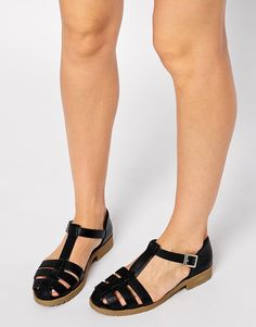Image 1 of ASOS MARDY Gladiator T-Bar Shoes