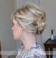 messy side bun - and she has a great tutorial!