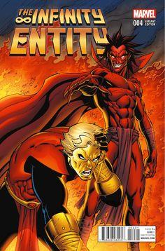 Infinity Entity # 4 (Variant) by Ron Lim & Andy Smith Marvel Comics Superheroes, Marvel Villains, Marvel Comic Books, Marvel Art, Marvel Characters, Comic Books Art, Comic Art, Adam Warlock Marvel, Mephisto Marvel