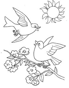 Tattoo Flash and Sketches by Metacharis on deviantART Easter Coloring Pages, Coloring Sheets For Kids, Coloring Pages For Girls, Coloring Book Pages, Bird Embroidery, Embroidery Patterns, Painting For Kids, Drawing For Kids, Bird Patterns
