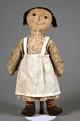 Ragedy Ann Doll was one of the most popular dolls to see with a little girl in the 1920s. This doll was first popularized from a book in 1919. This doll was first an idea brought together when the creator found a faceless doll in her grandmothers attic.
