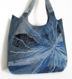 Bag from denim; denim art; denim jeans, fromoldjeans
