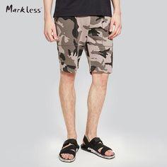 FuzWeb:Markless Camouflage Mens Shorts Summer Casual Cotton Shorts Men Plus Size S-2XL bermudas masculina de marca DKA7903M