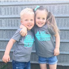 These besties are cuter than cute!!  Our dude/dudette tees are perfect for best friends, cousins, siblings, and twins! Grab yours today!