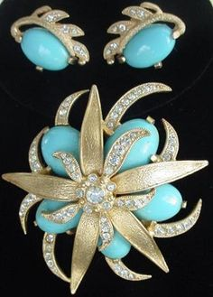 EISENBERG ICE Demi Brooch Pin Earrings