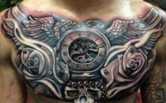 Guys Full Chest Tattoo Collection