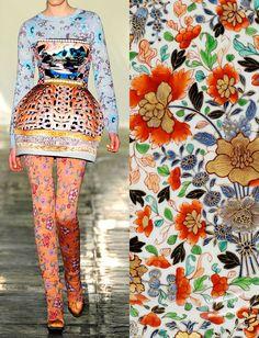 Mary Katrantzou prints For more ethnic style and tribal fashion visit: www. Floral Fashion, Tribal Fashion, Fashion Prints, Fashion Art, Fashion Design, Mary Katrantzou, Miss Moss, Textiles, Moda Fashion