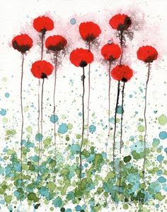 Here Today Gone Tomorrow  Red Flowers  Giclee by printmakerjenn, $20.00