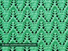 Dainty Chevron Knitted Lace Stitch