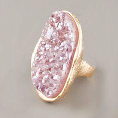 I cannot get enough Marcia Moran! Natural Druzy Ring