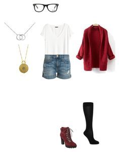 """""""Untitled #326"""" by mrs-grant-guston ❤ liked on Polyvore featuring Falke, H&M, Nine West, Current/Elliott, 1928, Blue Nile and Muse"""