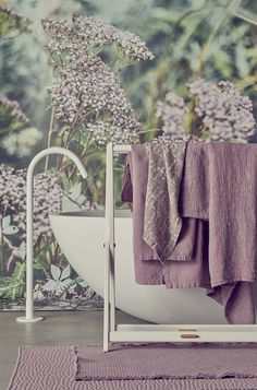 Society Limonta | Summer Horizon SS 2019 Home Collections, Purple, Plum, Summer, Ss, Summer Time, Viola