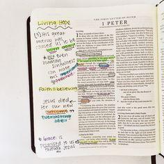 Bible Journaling in Peter Bible Study Journal, Scripture Study, Bible Art, Bible Verses Quotes, Bible Scriptures, Peter Bible, Bibel Journal, Bible Doodling, Bible Notes