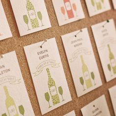 Having a winery wedding?  We love these escort cards for that!  So cute!