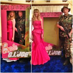 Barbie and G. I. Joe in their box couples costume