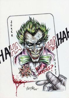 This board should just be called Joker Der Joker, Joker And Harley Quinn, Joker Drawings, Tattoo Drawings, Hahaha Joker, Evil Jester, Poker Tattoo, Jokers Wild, Heath Ledger Joker